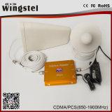 Dual Band CDMA / PCS 850 / 1900MHz Répéteur de signal mobile avec antenne