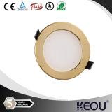 Couper le trou 90mm 4W Golden panneau LED ronde