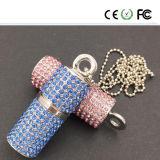 宝石類のダイヤモンドの物質的な水晶USBのフラッシュ駆動機構OEM