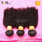 普及したマレーシアのアフリカの深くねじれたカールのバージンの毛の中国の人間の毛髪の織り方