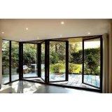 Portello piegante di alluminio del patio della rottura termica con doppio vetro Tempered