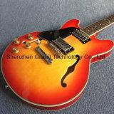 Haut de l'érable piqué de corps creux de Guitare Jazz gaucher électrique (TJ-298)