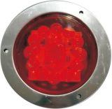 """LED 4"""" 둥근 정지 회전 테일 빛 Tl23"""