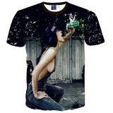 Madame sexy Drink Fun Personality T-Shirt de dessus de femmes d'hommes d'impression sexy de l'été 3D