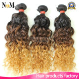 8A livram o Weave do cabelo humano do tom dos Peruvian dois dos pacotes do cabelo de Ombre das amostras do cabelo do Weave