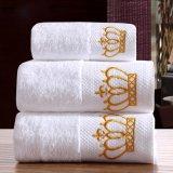 Visage personnalisé de luxe serviette éponge Blanc 100% coton brodé gant de toilette/ Hôtel Serviette de bain