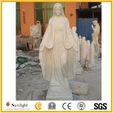Het witte Marmeren Standbeeld van de Steen van het Maagdelijke Beeldhouwwerk van het Standbeeld van Mary Hoogstaande, Godsdienstige