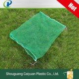 Los monofilamentos de HDPE bolsa tubular Anti-Bird verde de palmera de malla de plástico negro con la bolsa de Net