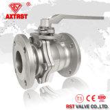 """1"""" 2PC SS316/SS304 ANSI Flange de Aço Inoxidável plena da Válvula de Esfera"""