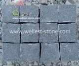 Природные Split кунжутного черного гранита вымощены булыжником камня Cube камня на мостки, подъездная дорожка, система контроля