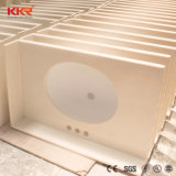Personalizzare la vanità superiore di superficie solida della stanza da bagno con il dispersore per i progetti