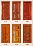 Portello di legno del legname esterno della villa del lusso con il portello superiore (YH-1016-1)