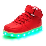 Atacado LED Shoes Adultos 7 cores Shoes Stock Outdoor Glowing Female Shoes and Bags