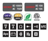 As contagens de 2000 Professional Multímetro Digital (MY63)