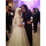 Мусульманские Satin тюль кружева достойного свадебные платья (мечты-100059)