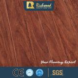 suelo de madera del laminado del laminado de la nuez del roble blanco del vinilo E1 HDF AC4 de 12.3m m