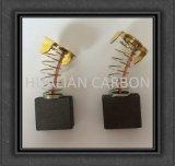 Горячая продавая щетка углерода электрического сверлильного аппарата CB-204/малая искрясь щетка углерода електричюеских инструментов 7X18X18mm/медная щетка углерода в форме графита