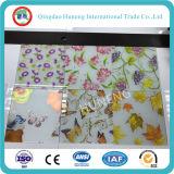 El vidrio ácido con diseño/Rose/la mariposa/la uva imprimió en superficie
