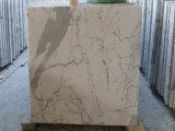 Tuile de marbre italienne de marbre blanche de Calacatta
