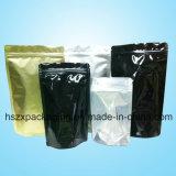 Ponte de pie cremallera bolsa de papel de aluminio Embalaje Bolsa de Alimentos