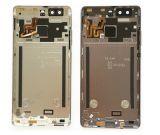 Handy-Teil-rückseitiger Deckel-Batterie-Tür-Gehäuse-Kasten für Huawei P9 mit Fingerabdruck-Flexkabel und Energien-Datenträger-Taste