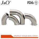 Encaixes de tubulação sanitários da câmara de ar do aço inoxidável cotovelo da braçadeira de 90 graus
