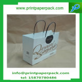 Изготовленный на заказ выбивая напечатанный логосом бумажный мешок бумажного мешка Kraft мешка подарка хозяйственной сумки косметический с ручкой