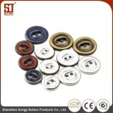 Botón del broche de presión del metal de la prensa del orificio de la manera dos para el cuero