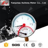 A vedação de plástico de 2,5 polegadas caso os medidores de teste de pressão hidráulica de óleo para a dupla leitura Bar e PSI