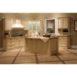 Keukenkasten van de Luxe van het Ontwerp van het huis de Witte Stevige Houten