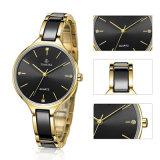 Relógios de pulso cerâmicos de luxo femininos com diamantes brilhantes 71034
