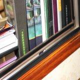 La stoffa per tendine di vetro personalizzata di colore della pagina di alluminio di legno di profilo oscilla fuori la finestra con l'otturatore registrabile