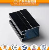 Profil en aluminium d'oxydation anodique en noir pour la porte et le guichet