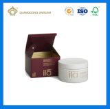Rectángulo de empaquetado de papel del cuidado de piel para los productos de belleza (rectángulo de empaquetado poner crema de la mascarilla)