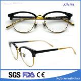 Hot Vente de lunettes optiques Metaltemple unique d'acétate de châssis
