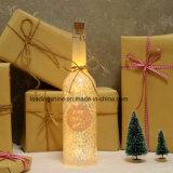 Las luces estrelladas de la cadena de la luz LED de la botella de vino con 3D Stars el efecto para la decoración del banquete de boda del sitio de los cabritos del patio