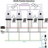 3 단계 장비를 위한 평행한 기능 PV 잡종 변환장치를 가진 5kVA 붙박이 MPPT 태양 관제사
