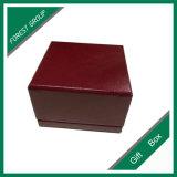 Contenitore impaccante di anello rosso scuro di lusso di disegno