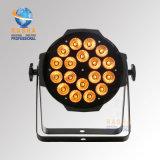 Nueva Rasha luz Wither DMX512 Powercon de la IGUALDAD del precio de fábrica de Rasha 18*8W 2in1 Alumnium LED para la luz de la etapa cada