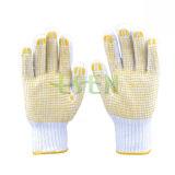 Пвх пунктирной руки белого цвета хлопок перчатки/ рабочие перчатки/ защитные перчатки