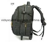 キャンバスの通気性の出張旅行は動かすトロリーコンピュータのバックパック袋(CY3678)を