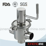Soupape manuelle de transfert de flux de pente sanitaire d'acier inoxydable (JN-FDV2001)