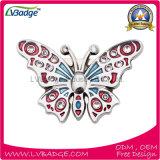 Distintivo molle di Pin dello smalto del metallo nella figura della farfalla