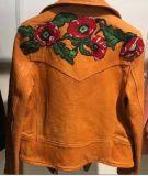 Embroidered Замши Куртки повелительницы, большого ворота костюма, одежды способа