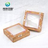 Elegante caja de embalaje de papel de impresión de regalo con estampado en caliente
