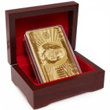 Zugelassene reine 24 K-Karat-Goldfolien-überzogene Schürhaken-Spielkarten mit 52 Karten u. dem 2 Spassvogel-speziellen ungewöhnlichen Geschenk