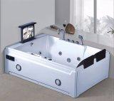 BALNEARIO de la bañera del masaje con Tvdvd para el chalet (AT-8832TVDVD)