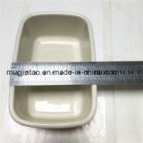 선물 나무로 되는 덮개를 가진 고정되는 Enamelware 사각 저장 컵