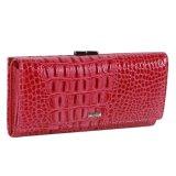 Повелительница Женщина Портмоне Бумажник портмона мешка монетки крокодиловой кожи красного цвета