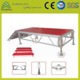 L'étape en alliage aluminium/stade d'exposition souple et mobile